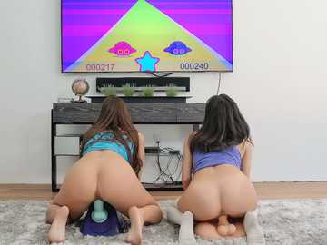 Abigail Mac and Darcie Dolce: Horny Gamer Chicks