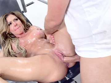 Hardcore MILF Nina Dolci gets banged in the ass by mature gym instructor