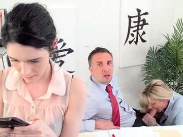 Ryan Conner is a demanding business woman fucking Keiran Lee in the office