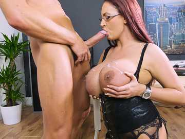 Emma Butt is a slutty business woman sharing hardcore sex in work fantasies